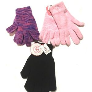 NWT Lot of 3 SO & Target Brand Adult Stretch Glove